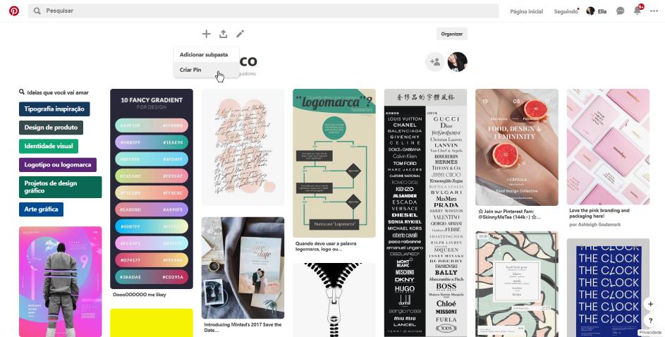 Como criar um Pin no Pinterest com link para o blog