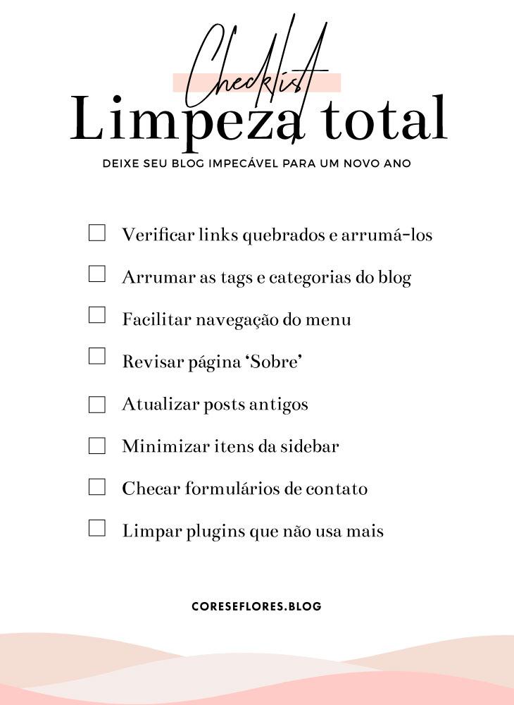 Checklist: Limpeza Geral no blog