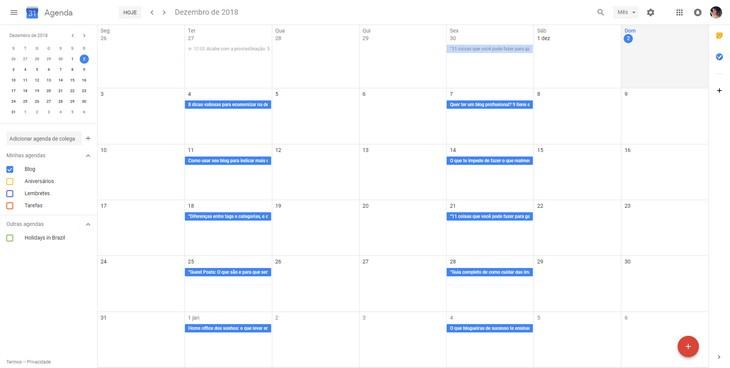 Como criar um calendário editorial usando Google Calendar