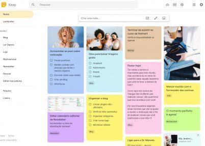 Como usar o Google Keep para aumentar a produtividade no dia a dia