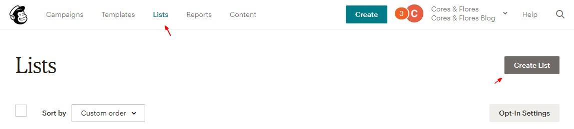 Como criar uma lista de e-mails no Mailchimp