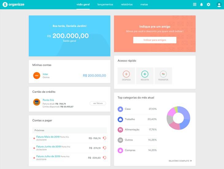 App Organizze para uma vida mais organizada e produtiva