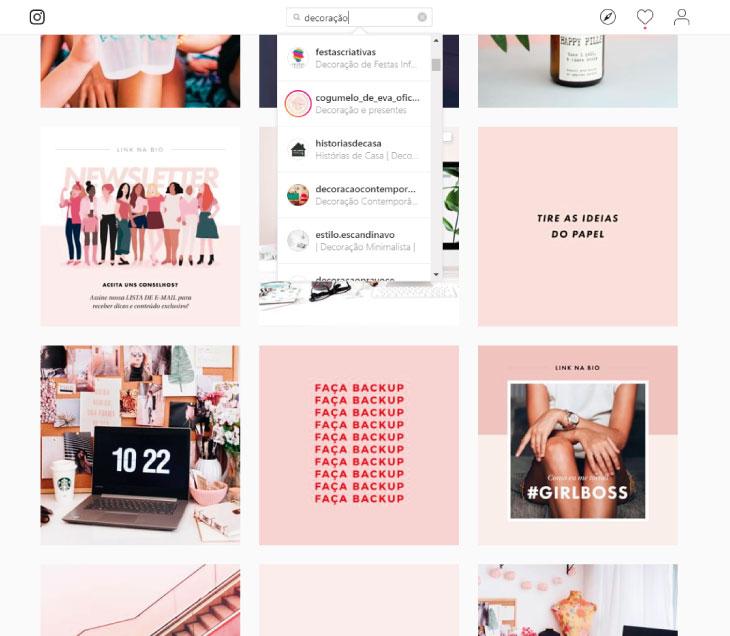 Busca de perfil no Instagram mostra como o nome do perfil é importante para ganhar seguidores reais