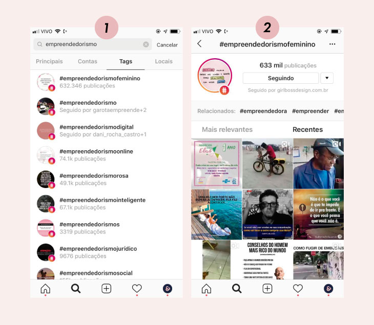 Como buscar por hashtags no Instagram
