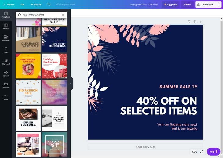Crie o design gráfico da sua marca com o Canva